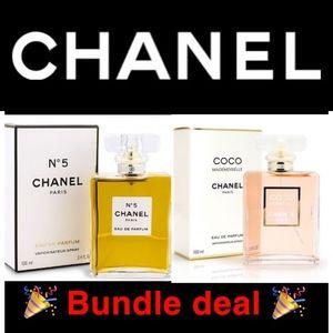 Chanel 2 bottle bundle coco + no5